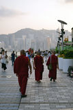 Moine bouddhiste tibétain en Hong Kong images stock