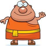 Moine bouddhiste Waving de bande dessinée Photos libres de droits