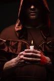 Moine catholique mystérieux Photo stock