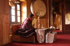 Moine dans la méditation Photos libres de droits