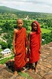 Moine de la Birmanie Image libre de droits