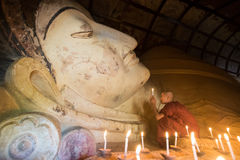 Moine de Myanmar Photo libre de droits