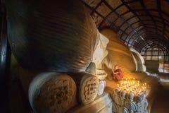 Moine de Myanmar Image libre de droits