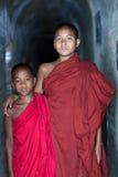 Moine de novice, Myanmar Images stock