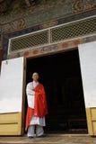 Moine du temple de Pohyonsa, DPRK (Corée du Nord) Photos stock