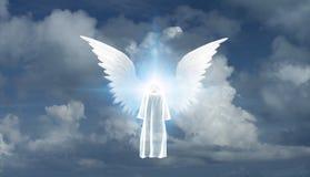 Moine et Angel Star blancs illustration de vecteur