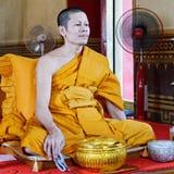 Moine thaï image stock