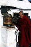 Moine tibétain Images libres de droits