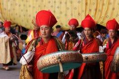Moines au festival de Paro Tsechu, I photos libres de droits