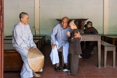 Moines au Vietnam Image libre de droits