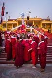 Moines bouddhistes de monastère de Gyuto, Dharamshala, Inde images libres de droits