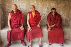 Moines dans Leh Photos stock