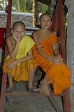 Moines Laos Image libre de droits