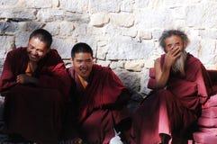 Moines tibétains photographie stock