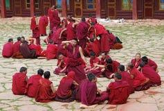 Moines tibétains Photos libres de droits