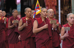 moines tibétains Photo libre de droits
