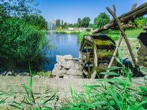 moinho da roda 101-Water Fotografia de Stock