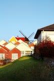 Moinho das casas de cidade Imagem de Stock Royalty Free