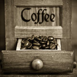 Moinho de café do vintage Foto de Stock Royalty Free