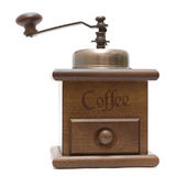 Moinho de café isolado no branco Imagens de Stock Royalty Free