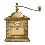 Moinho de Coffe ilustração royalty free
