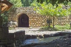 Moinho de farinha de Matroof no parque em Golan Heights, Israel de Banias fotos de stock