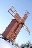 Moinho de madeira vermelho Fotografia de Stock