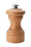 Moinho de pimenta de madeira isolado com um trajeto de grampeamento Fotos de Stock Royalty Free