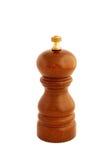 Moinho de pimenta de madeira isolado no fundo branco Imagem de Stock Royalty Free