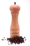 Moinho de pimenta no branco Imagens de Stock