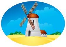 Moinho de vento Ilustração Royalty Free