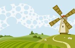 Moinho de vento ilustração stock