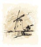 Moinho de vento 6 Fotos de Stock
