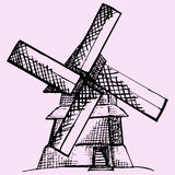Moinho de vento Foto de Stock