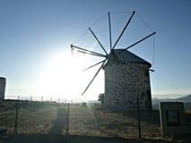Moinho de vento arruinado em Bodrum Fotografia de Stock