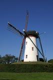 Moinho de vento branco Fotos de Stock Royalty Free