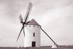 Moinho de vento; Campo de Criptana; La Mancha de Castilla; Espanha Fotos de Stock