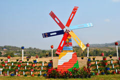 Moinho de vento colorido Foto de Stock Royalty Free