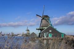 Moinho de vento de Amsterdão Fotos de Stock