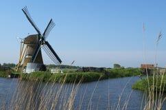 Moinho de vento de Doet Leven da aro, Voorhout, os Países Baixos Fotografia de Stock Royalty Free