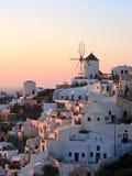 Moinho de vento de Grécia Santorini Fotos de Stock