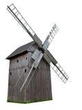 Moinho de vento de madeira Fotos de Stock