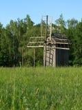 Moinho de vento de madeira fotografia de stock royalty free