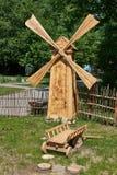 Moinho de vento de madeira decorativo Fotos de Stock Royalty Free