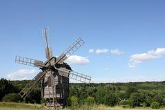 Moinho de vento de madeira velho Foto de Stock