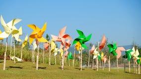 Moinho de vento de papel Foto de Stock