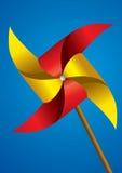 Moinho de vento de papel colorido Foto de Stock Royalty Free