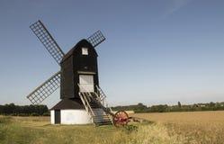 Moinho de vento de Pitstone, perto de Ivinghoe, Buckinghamshire imagens de stock