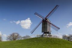 Moinho de vento de Sint Janshuismolen Imagens de Stock