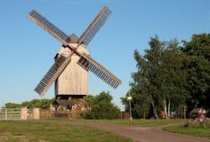 Moinho de vento do borne Fotografia de Stock
